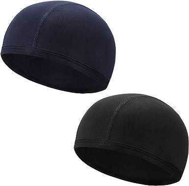 Unisex Skull Cap Quick Dry Motorcycle Bike Helmet Inner Round Hat Cycling Novelt