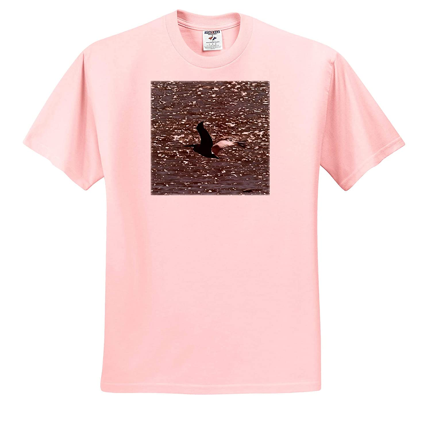 Pelican ts/_309613 Pelican Flying Over Shimmering Lake Bafa Acrylic Painting Adult T-Shirt XL 3dRose Taiche