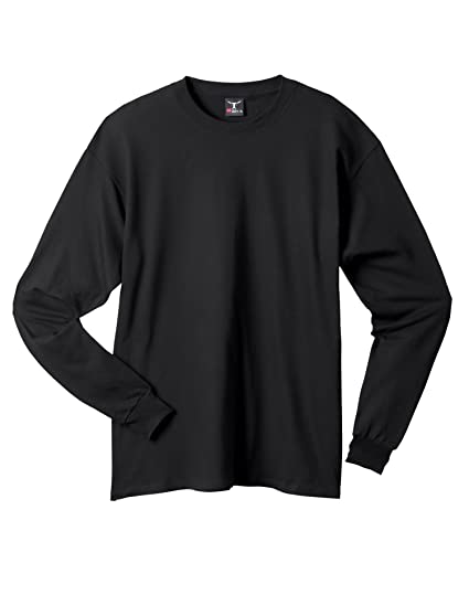 4e6e5ff18febc3 Image Unavailable. Image not available for. Color: Hanes Beefy-T - 100% Cotton  Long Sleeve T-Shirt.