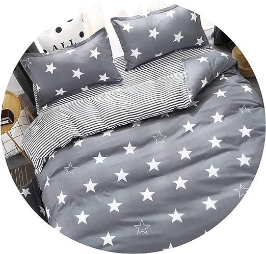 4 Piece Duvet Covers Cot Bed Bedding Set 120x90cm Stars White /& Grey