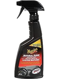 Meguiar's Natural Shine Protectant for Car Dashboard, Trim & Tire, Black, 473mL (Non-Carb Compliant) - G4116C
