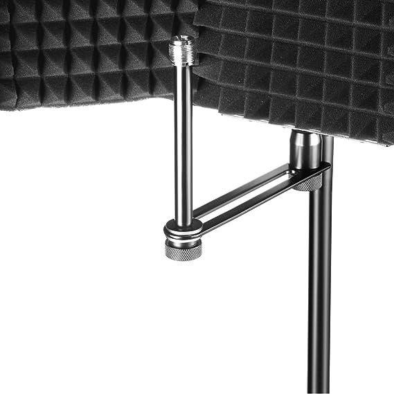 Soporte Antivibraci/ón para Micr/ófono de 43-47mm con Filtro Soporte Ajustable para Micr/ófono Di/ámetro de 43-47 mm Micr/ófono con Filtro Antipop de Doble Malla y Adaptador de Tornillo Neewer