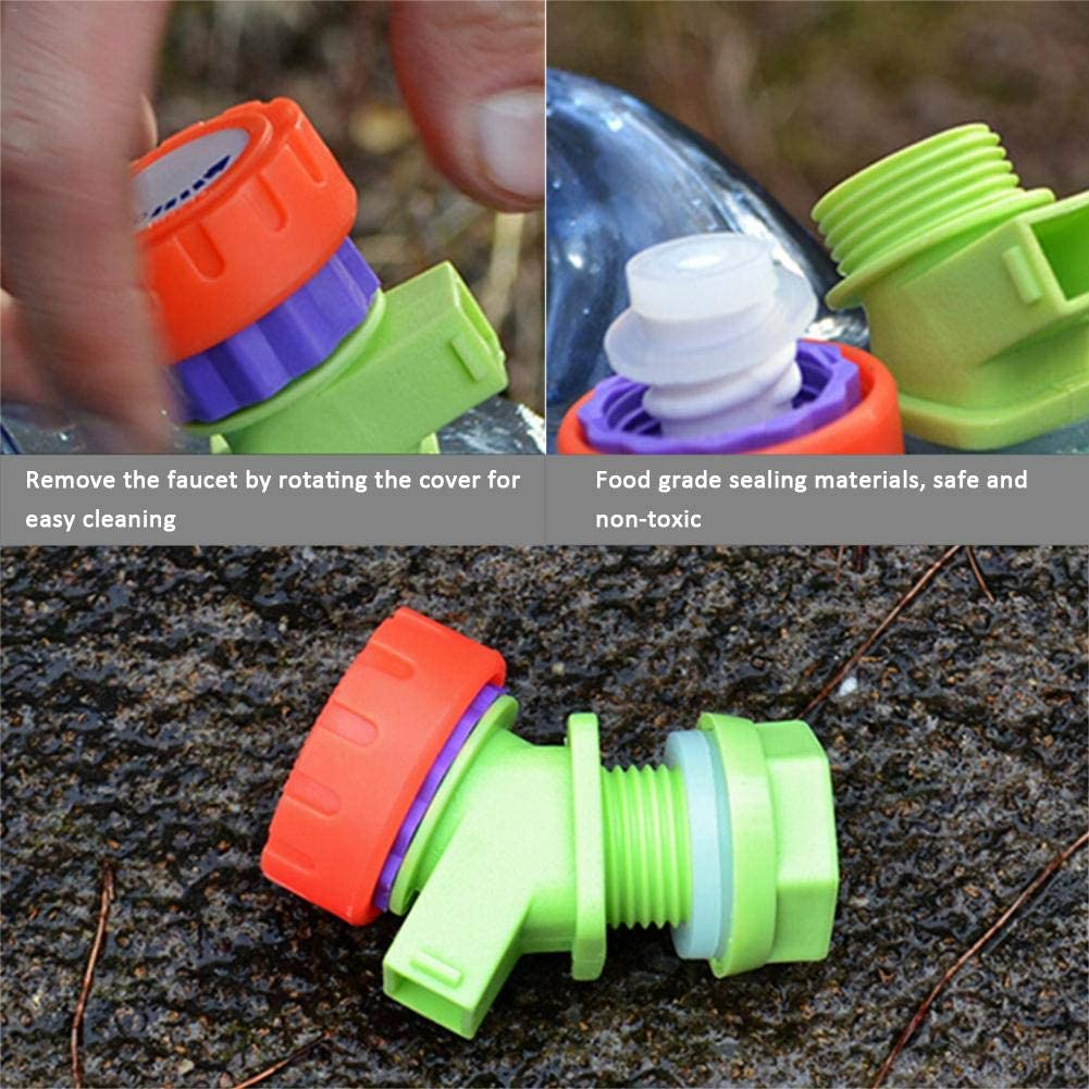 TSY 3 Gallon Portable Water Container with Spigot Camping Water Storage Carrier Jug for Outdoors Hiking Backpack,Survival Kit