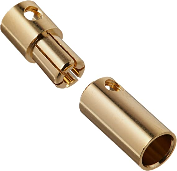 uxcell 20 Pcs Gold Tone Metal RC Cone Female Connector 3.5mm