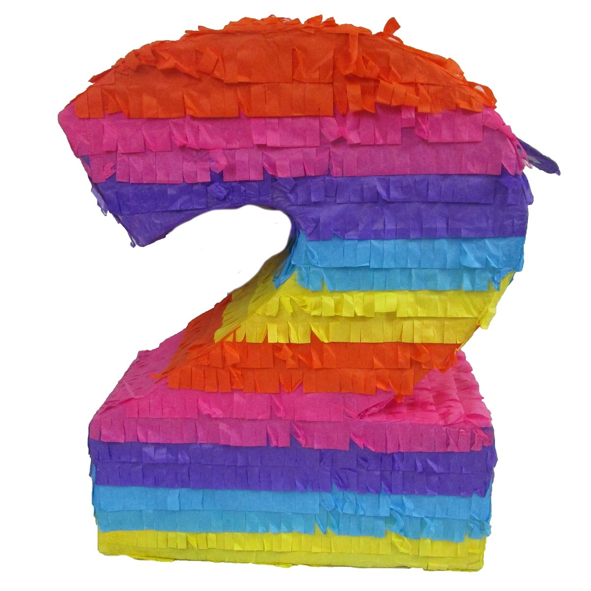 Pinatas Number 2, Party Game, 3D Centerpiece Decoration and Photo Prop