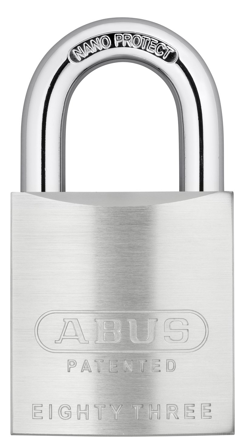 ABUS 83/50-300 S2 Schlage 50mm All Weather Solid Brass Chrome Plated Rekeyable Padlock with 1 Inch Shackle, Zero-Bitted
