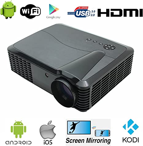 WiFi proyector Full HD video proyector 1080p Native Resolución ...