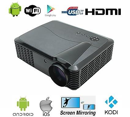 Wifi proyector Full HD, Android 1080P 4500 lúmenes cine en ...
