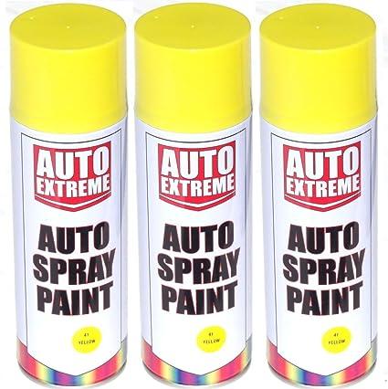 400 ml amarillo brillante Spray de pintura aerosol puede Auto ...