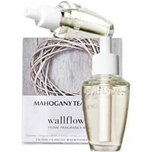 Bath & Body Works Mahogany Teakwood Wallflowers Home Fragrance Refills, 2-Pack (1.6 fl oz total)