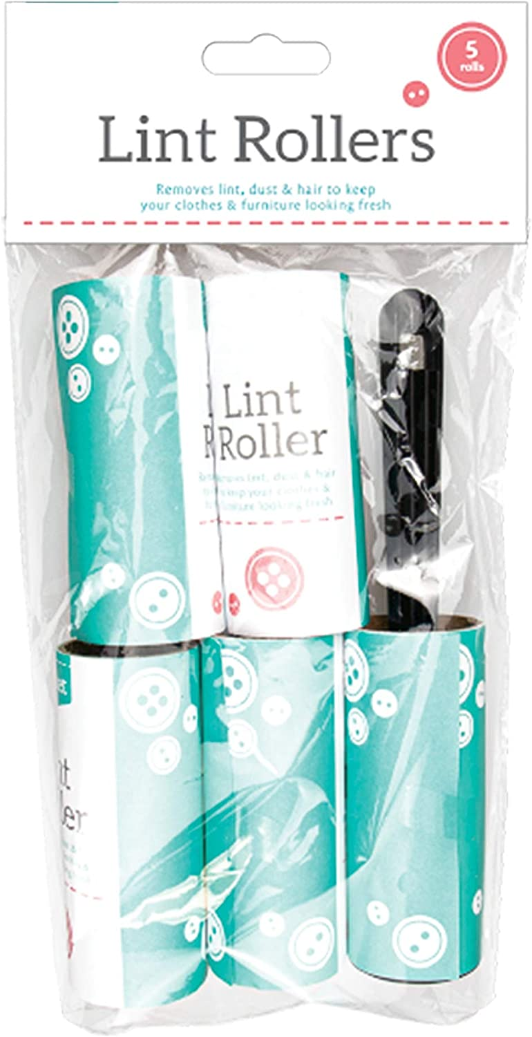 Reusable Lint Roller Quickly Removes Animal Hairs Lint Roller for Clothes Lint Removers For Clothes GenBuy Lint Roller with 4 Sticky Roller Refill