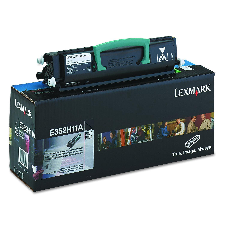 Toner Original LEXMARK E352H11A Alta Capacidad 9000 Páginas Black