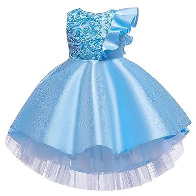 Gugavivid Vestido de Princesa con Volantes de Encaje para ...