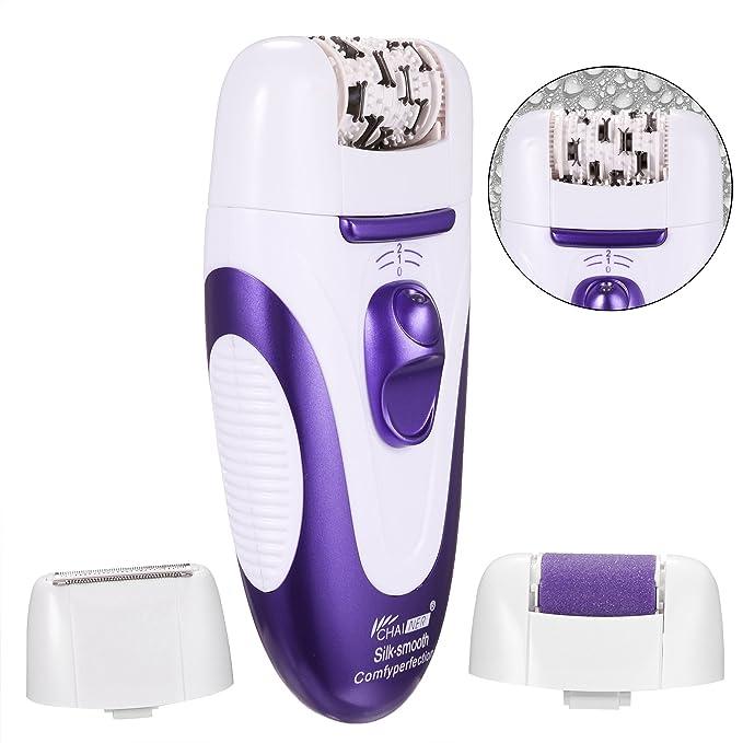 ACEVIVI 3 en 1 Depiladora eléctrica Wet & Dry Bikini Trimmer, Epilator del pelo, Removedor de Callos con 2 velocidades: Amazon.es: Salud y cuidado personal