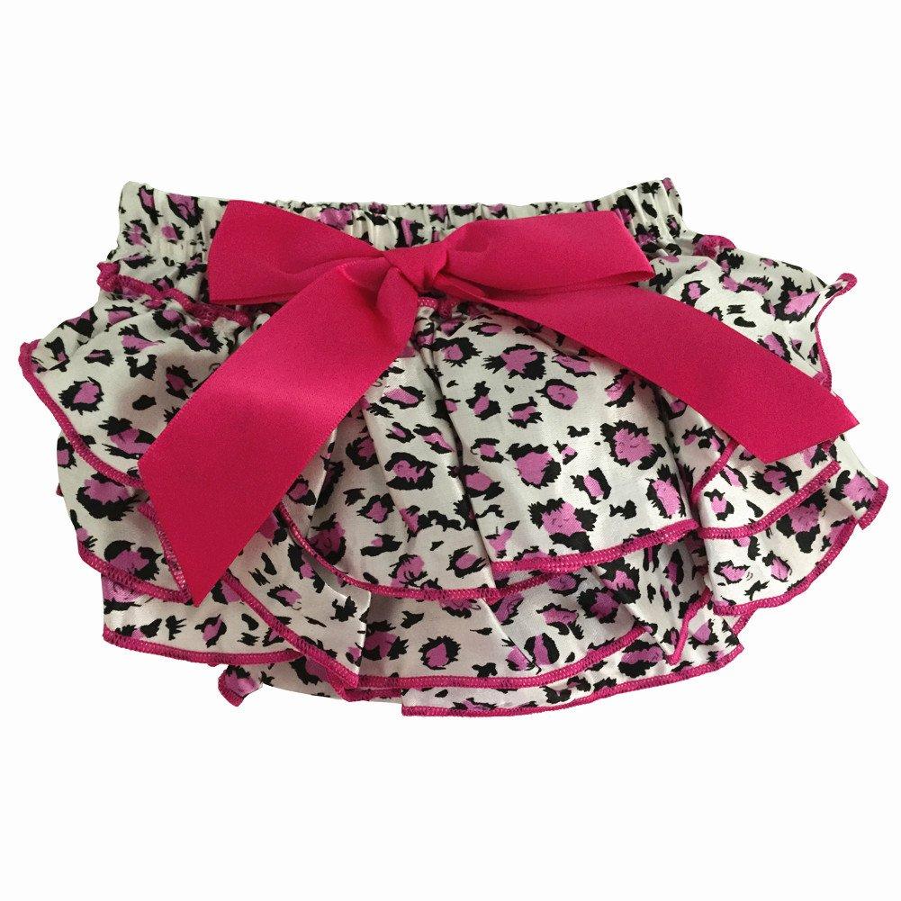 Lisianthus Baby Girl Satin Ruffle Bloomer Shorts Diaper Cover