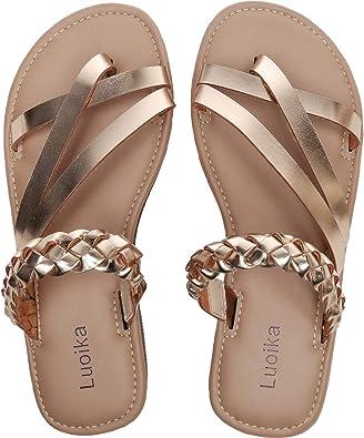 Slip On Flat Braided Strap Open Toe