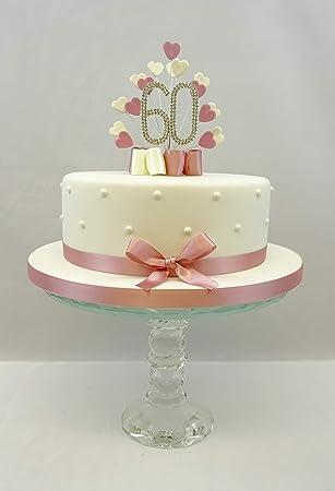 Kuchen Dekoration Kuchen Topper Herz Burst Spray Mit 60 Geburtstag