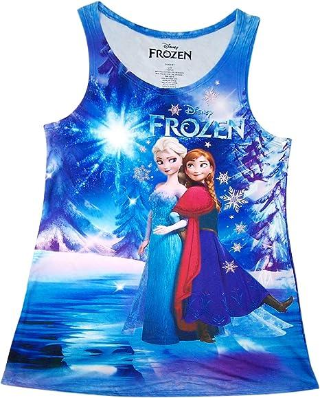 Amazon.com: Disney Frozen Anna y Elsa vestido de tanque ...