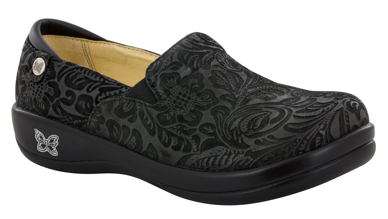 Alegria de la Mujer Keli Profesional Zapatos 40 W EU|Negro (Black Emboss Paisley)