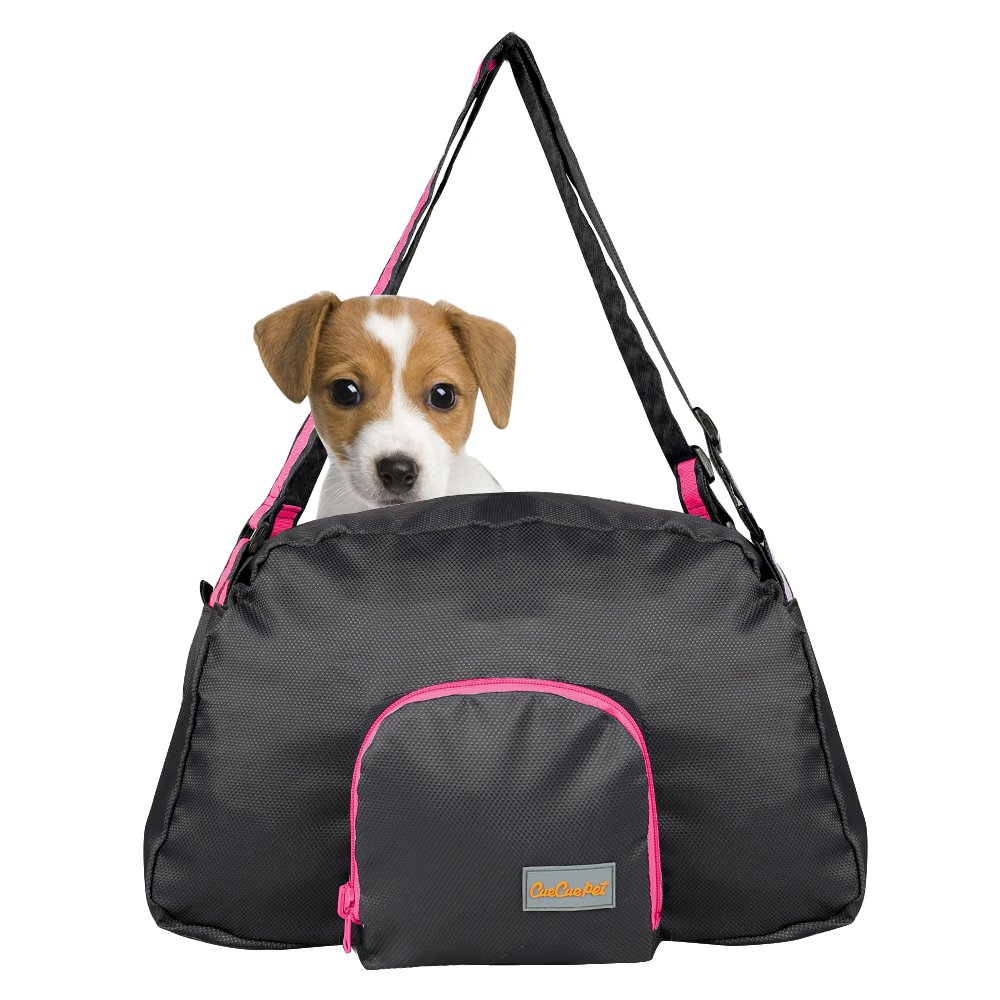 Neon Pink CueCue Pet's Collapsible Neon Pink Sport Style Nylon Pet Carrier Suitable for Small to Medium Size Pet's