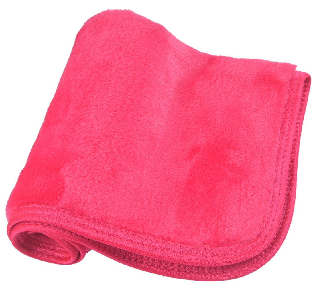 Sinland Microfiber Makeup Remover Cloth Face Cloths Facial Cleaning Towels Fast Drying Washcloth 400 gsm 9.8Inchx9.8Inch 4 Pack Dark Pink by Sinland (Image #2)