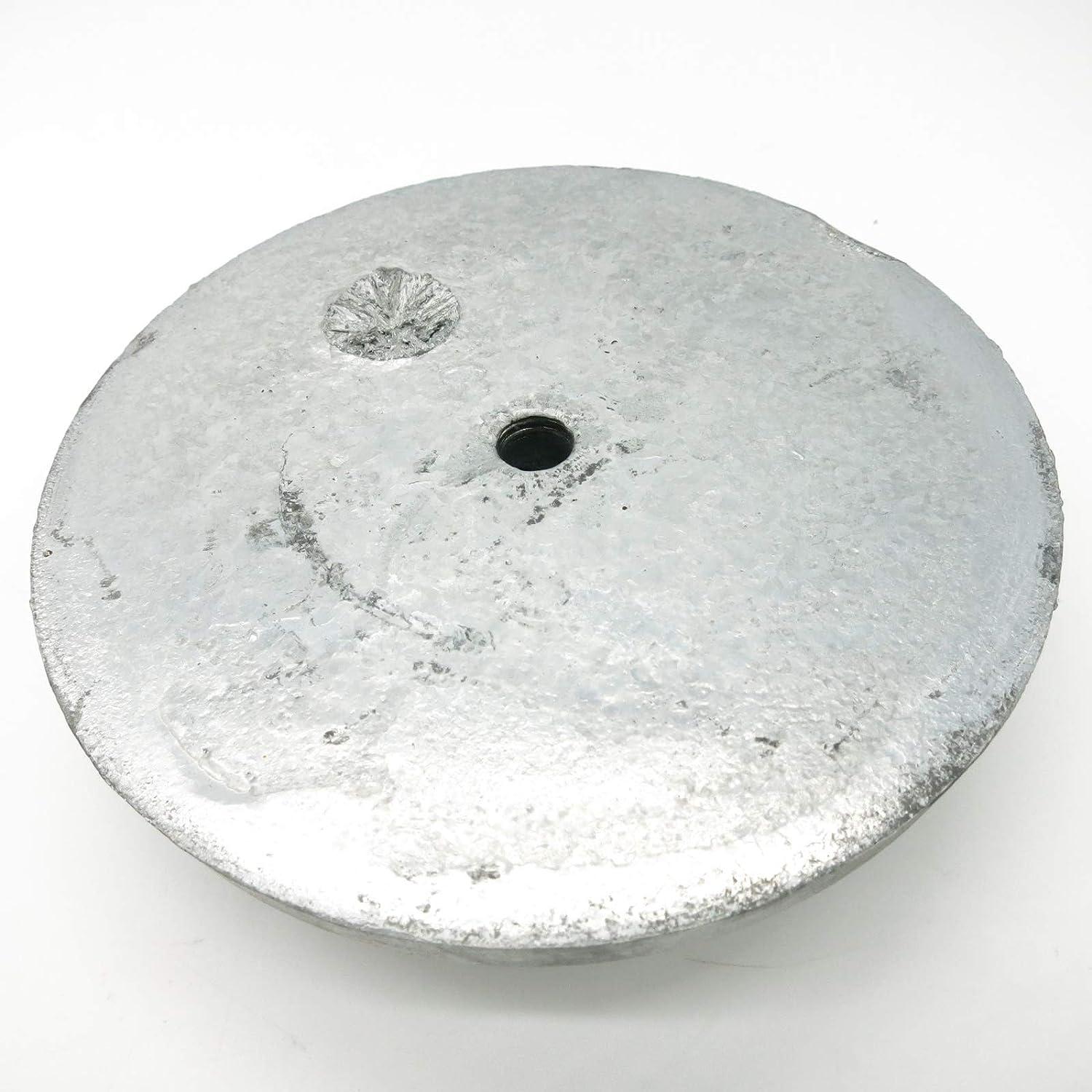 /ánodo de cinc para Platos CAGO 2 Piezas /Ánodo de /ópera Redondo de 115 mm de di/ámetro /ánodo de protecci/ón para Agua Salada