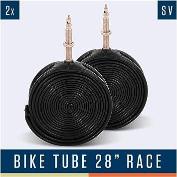 Alphatrail Carretera Cámara de Bicicleta Rick 28 Pulgadas SV Presta Válvula I 2X Conjunto 700 x 18-28c con Garantía de Movilidad I Cubierta Compatible Schwalbe, Michelin, Continental, Conti & Mavic: Amazon.es: Deportes