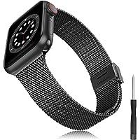 Kompatibel med Apple Watch armband 38 mm 40 mm 42 mm 44 mm SE, armband i rostfritt stål smal smal metallrem för iWatch…