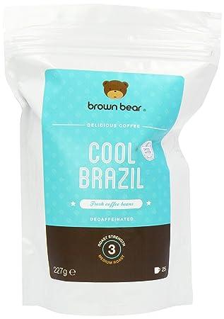 Brown Bear Cool Brazil Café En Grano Descafeinado mediante Proceso Suizo de Agua 227 g: Amazon.es: Electrónica