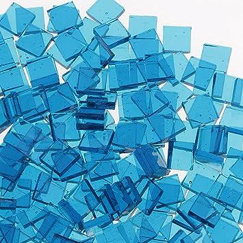 navy Mosaik-Fliesen 10mm x 10mm square Gr/ö/ßen und Farben Sharplace Gro/ßhandelsposten Mosaik-St/ücke aus Glas verschiedene Formen als Dekoration f/ür Kunsthandwerk Mosaiksteine zum Basteln