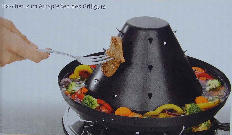 Tatarengrill Tatarenhut Elektrogrill Raclette Fondue Kombination