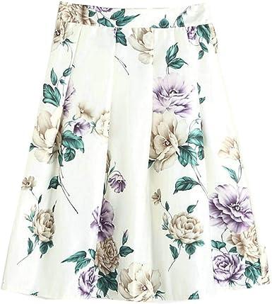 Ladies Summer A Line Plisada Falda Falda Circular Vintage Faldas ...