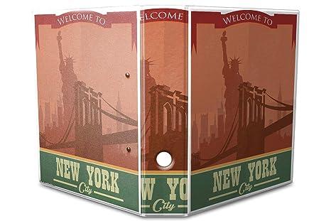 Archivador A4 Carpeta 2 anillas 60mm impreso Nueva York