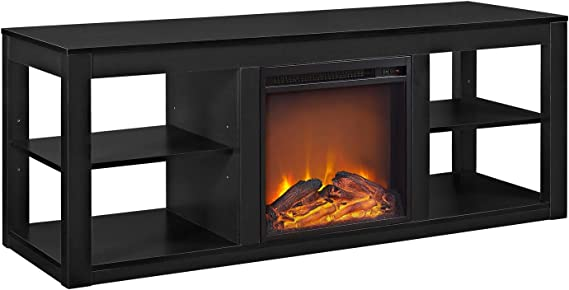 Ameriwood Home Parsons TV Stand with Fireplace