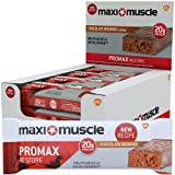 Maximuscle Promax High Protein Bar, 60 g - Chocolate Brownie, Pack of 12