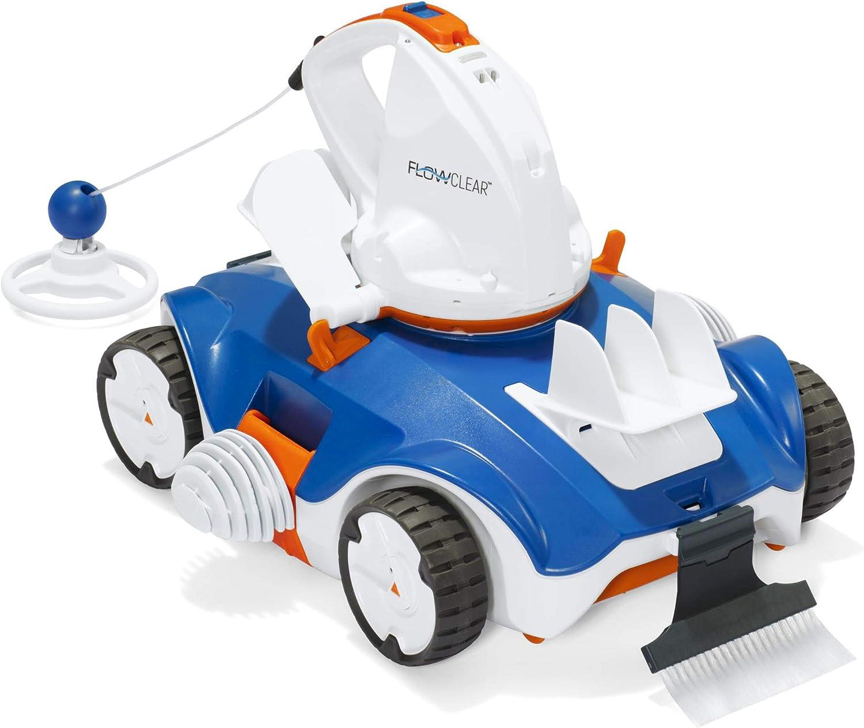 Bestway 8321366 Robot Limpiafondos Automatico para Piscinas A Bateria 90 Minutos, Azul, 36x50x35cms: Amazon.es: Jardín