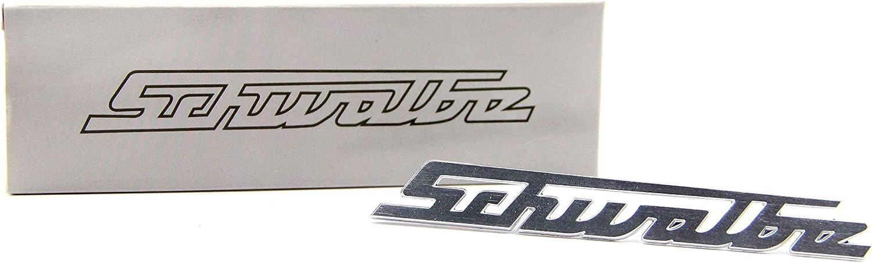 Simson Schwalbe Schriftzug Emblem Alu-Optik silber Schrift Beinschild Knieblech