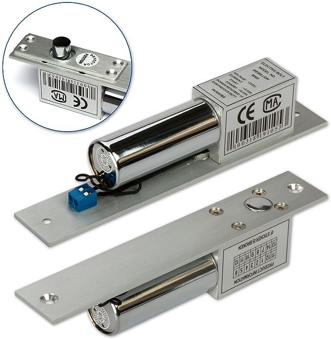 12V DC 200mA Electric Bolt Door Opener Door Closers Door Lock NC Mode DE
