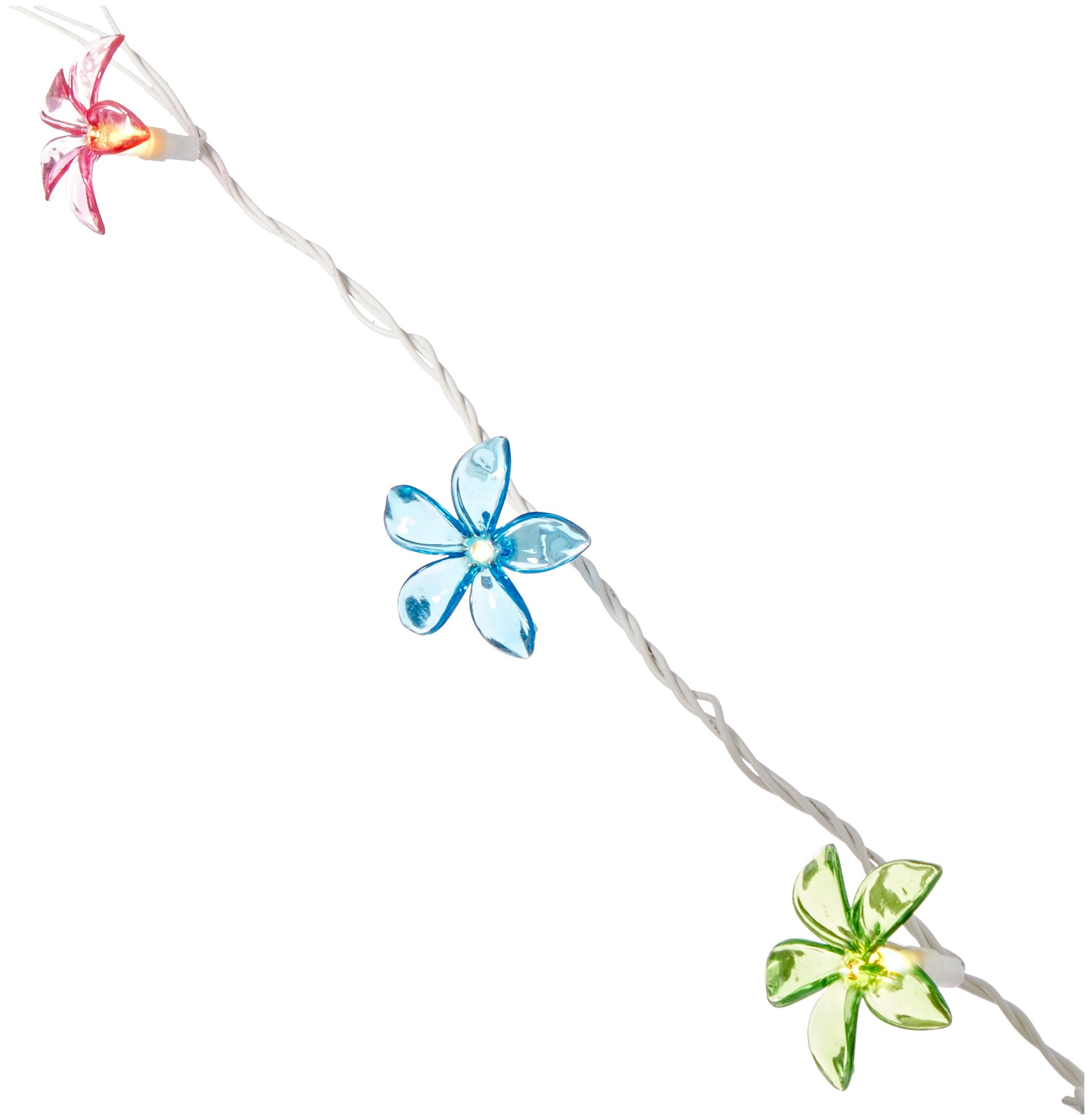 Grasslands Road Multi Color Plumeria Flower Patio Light Set, 6-Foot