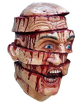 máscara de terror en rodajas
