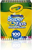 Crayola Super Tips marcadores lavables, 100 unidades, a granel, ideal para niños