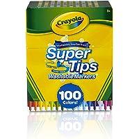 Crayola Super Tips marcadores lavables, edad de regalo 3 + – 100 unidades