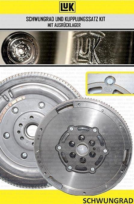 600 0200 00 – Kit de embrague de 3 piezas con cojinete de empuje + volante de inercia de doble masa, original LUK 4 piezas: Amazon.es: Coche y moto