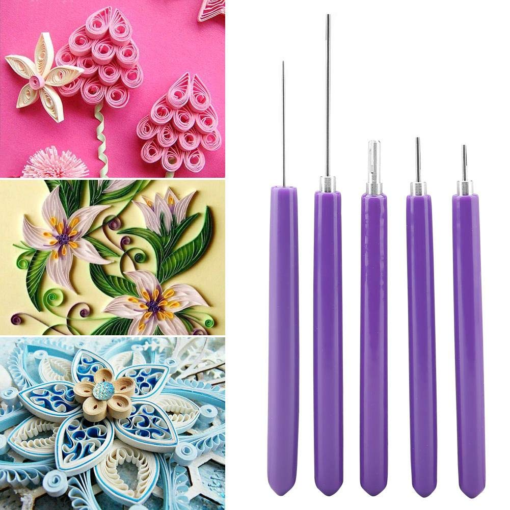 Ginyia Quilling Tool Set Multifunction 5 Pcs Different Size Quilling Tool Kits Quilling Slotted Tools Paper Quilling Tools Kit Coach Cricut Quilling Tool