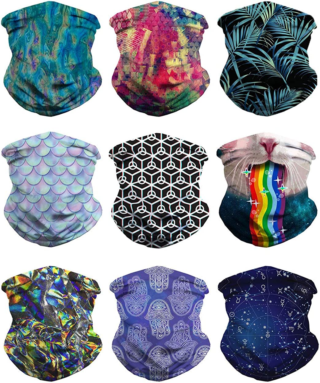 Buff Round Kaleidoscope Patterns Original Mutifunctional Microfiber Headwear
