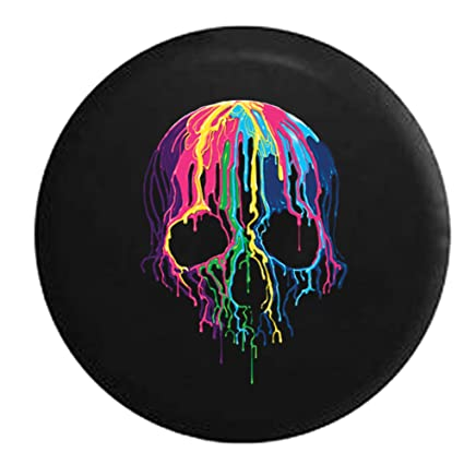 amazon com melting wax skeleton skull neon colors spare tire cover