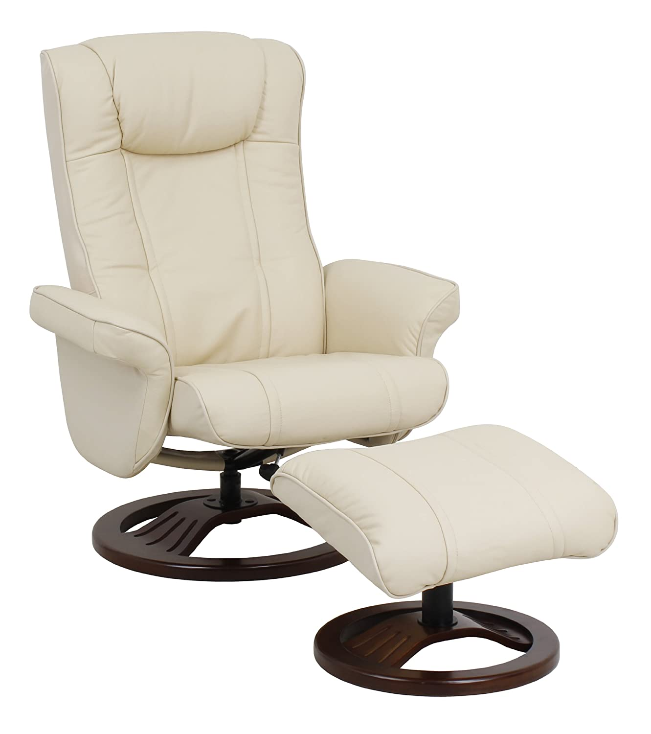 Global Furniture Alliance London Real Leather Recliner Chair and