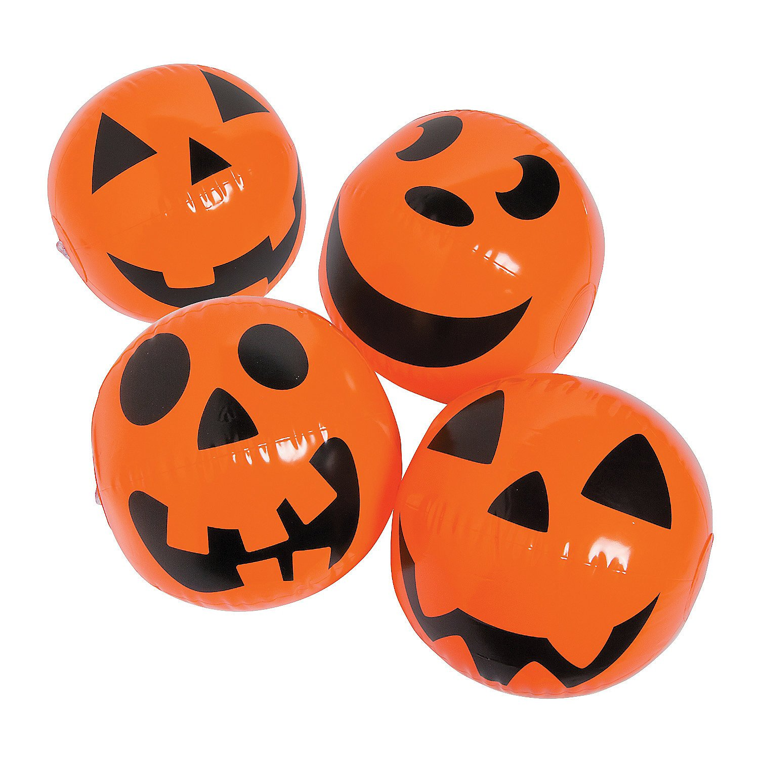 Fun Express Jack O Lantern Pumkin Beach Ball (Set of 12) Halloween Toys by Fun Express
