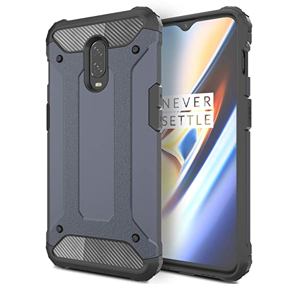 reputable site 386ee d3a07 AnoKe Compatible with OnePlus 6T Case,Hybrid Rugged Dual Layer Armor Grip  with Rugged Defender Shock Absorption Bumper Design Protective Phone Cover  ...