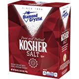Diamond Crystal Kosher Salt – Full Flavor, No Additives and Less Sodium - Pure and Natural Since 1886 - 26 oz